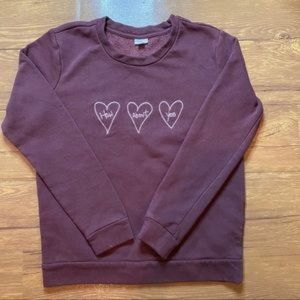 Jacqueline De Yong Top/Sweater Maroon Small